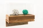 Redwood, Plexiglas, Bakelight dice