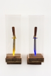 Redwood, Plexiglas, Knives, Light